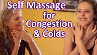 self massage for congestion cold remedy tips how to lymph face neck massage therapy techniques
