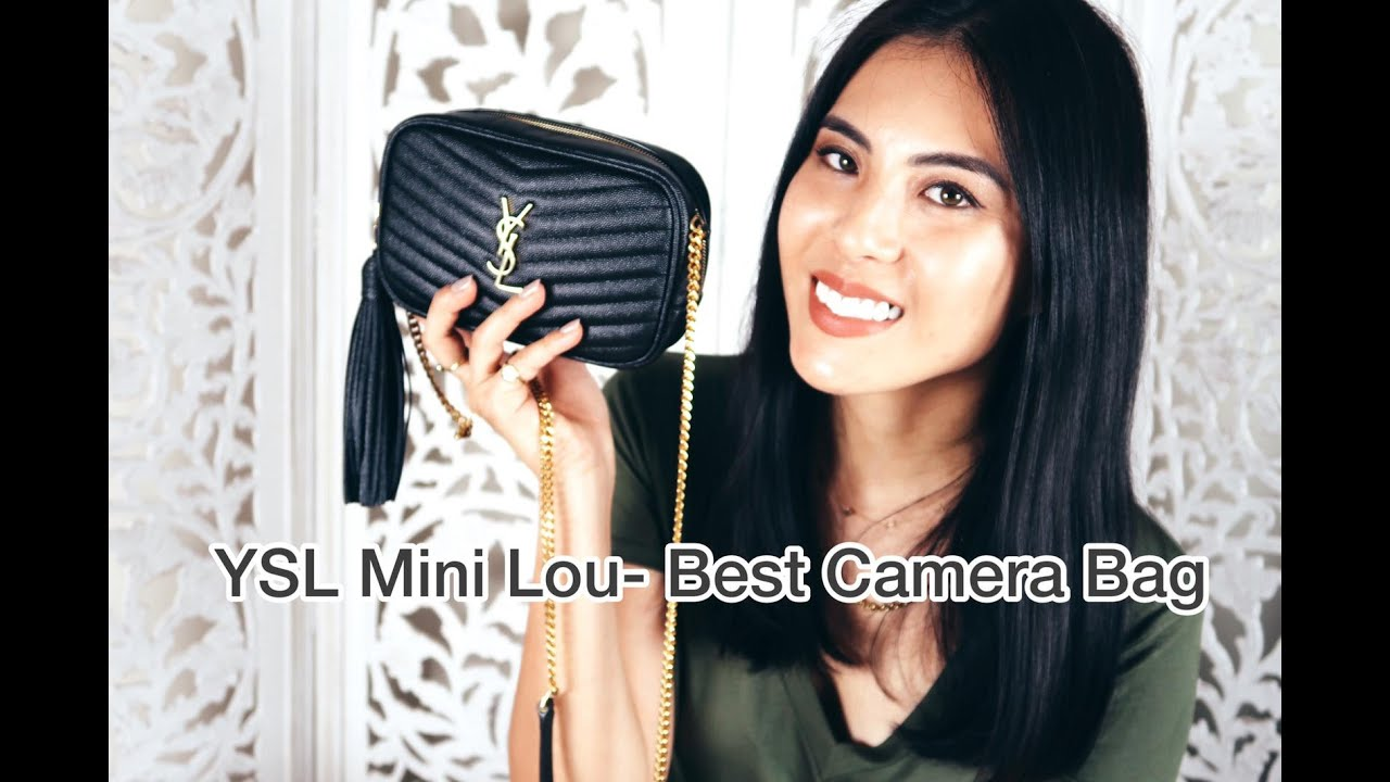 Ysl Mini Lou Best Camera Bag Review What Fits Youtube