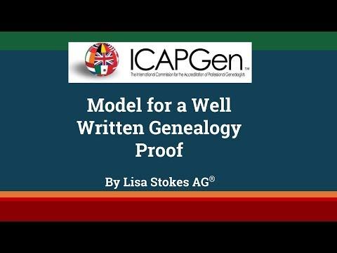Model For A Well Written Genealogy Proof