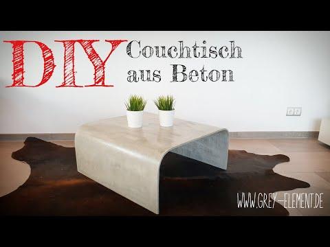 Einen Couchtisch Aus Beton Selber Machen Betonmobel Diy Youtube