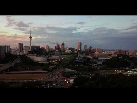 Sunset, Auckland 4k