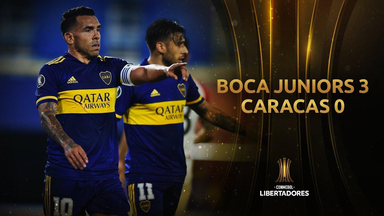 Boca Juniors vs. Caracas [3-0]   RESUMEN   Fase de Grupos   CONMEBOL Libertadores