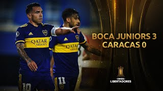 Boca Juniors vs. Caracas [3-0] | RESUMEN | Fase de Grupos | CONMEBOL Libertadores