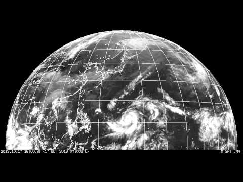 motion of cloud / weather satellite