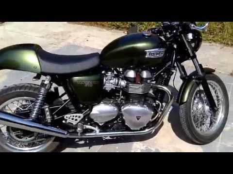 Triumph Thruxton Belgium Best sound Exhaust