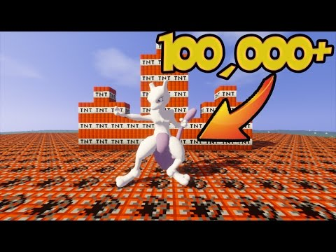(มายคราฟ Pixelmon) ต้องใช้ TNT เท่าไหร่ถึงทำลายมิวทูได้ !!