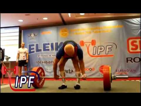 72 years old powerlifter 260 5kg World record deadlift for Janos Fabri