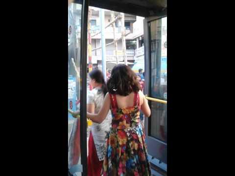 India travel - bus in Bangalore