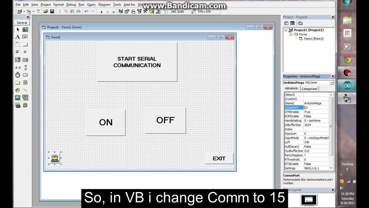 Create Exe Visual Basic 6 0 To Control Arduino