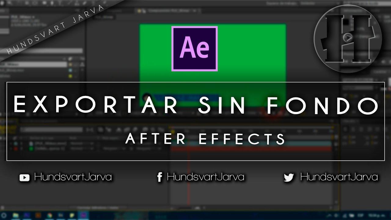 After Effects Exportar Vídeo com Transparência (Alpha Channel)