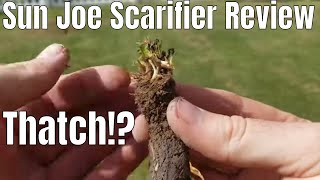 DIY How to remove thatch using a sun joe scarifier and dethatcher.  This is my lawn thatch removal