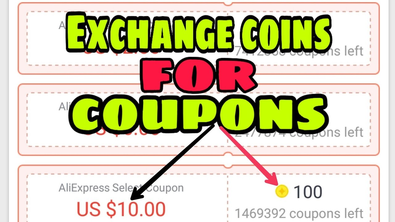 How to use AliExpress coins to exchange with coupons,free trick to buy on AliExpress