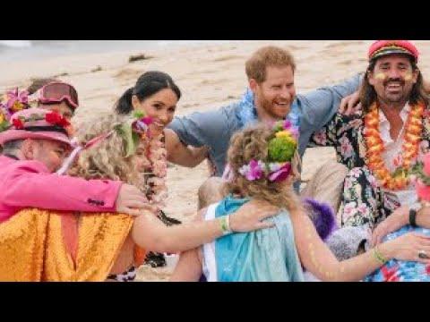 Duke & Duchess Of Sussex Visit Bondi Beach & Harry Climbs Sydney Harbour Bridge! Day 4