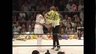 Etsuko Mita Retirement Ceremony 1/2  師匠 北斗晶 駆けつける