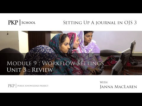 Setting up a Journal in OJS 3: Module 9 Unit 3 - Review
