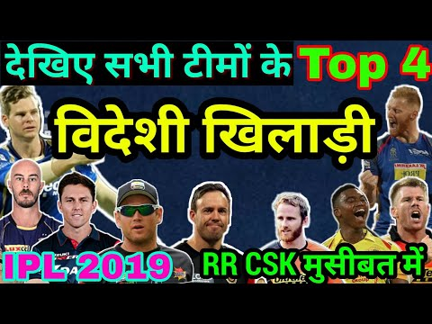 IPL 2019: All 8 Teams Top 4 Foreigner Players, 32 Foreigner player