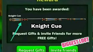 8 Ball Pool New Offer [ Knight Cue ] Get Free Just 5 Minutes Loot Offer Ever 😍