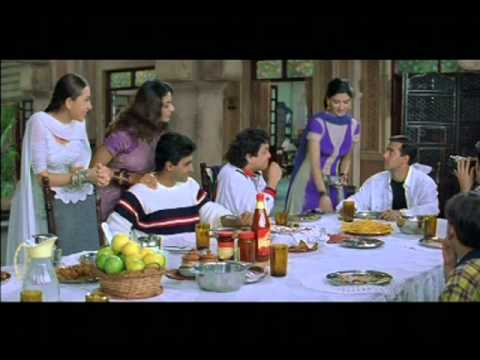 Sonali Bendre Serving Food To Salman Khan...