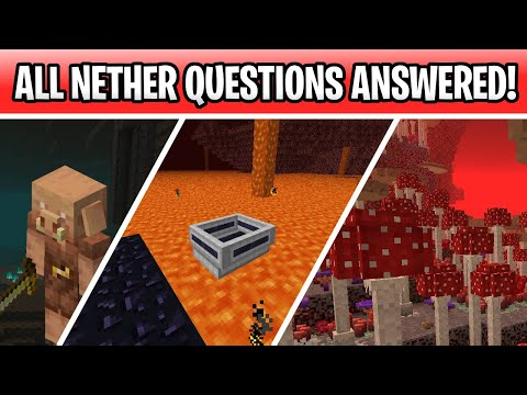 Minecraft 1.16 Nether Update Answers! Nether Boats, More New Biomes, Cave Update & Enchantments!!!