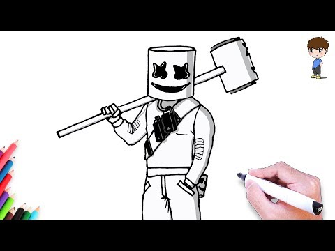 Como Dibujar Marshmello Pico Fortnite Youtube