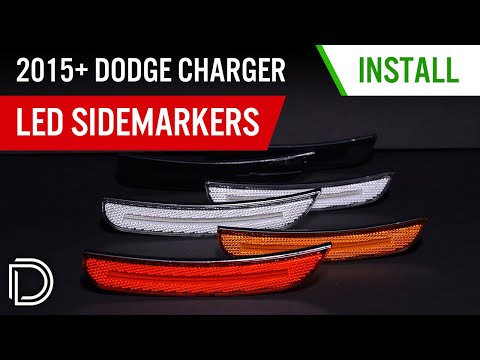 How to Install 2015+ Dodge Charger LED Sidemarkers | Diode Dynamics