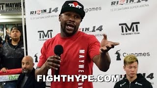 MAYWEATHER RESPONDS TO CANELO CALLING HIM OUT FOR REMATCH; SAYS