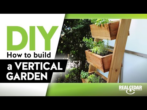 How To Build A Vertical Herb Garden Planter Youtube