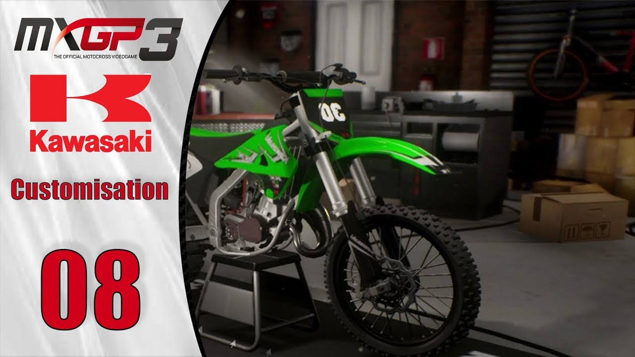 mxgp 3 kawasaki 125 kx customisation fr test ps4. Black Bedroom Furniture Sets. Home Design Ideas
