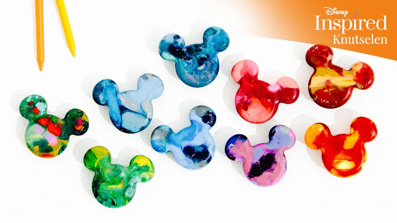 Bekend Disney Inspired   Knutselen: Mickey Mouse-waskrijt   Disney NL  &EW81