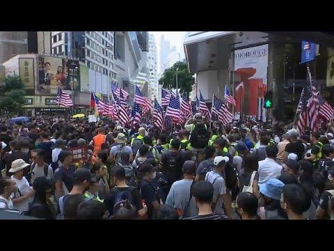 مواجهات مع الشرطة في احتجاجات هونغ كونغ والمتظاهرون يرفعون أعلام أمريكا وبريطانيا…  - نشر قبل 4 ساعة