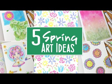 5 Spring Art and Drawing Ideas: More Ways to Fill Your Sketchbook