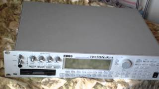 Korg Triton Rack Install Video EXB PCM
