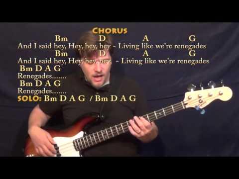 Renegades (X Ambassadors) Bass Guitar Cover Lesson in Bm with ...