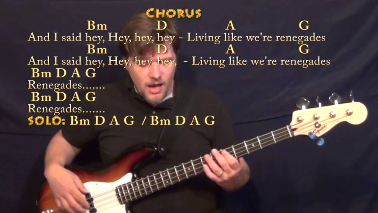 Renegades (X Ambassadors) Bass Guitar Cover Lesson in Bm with Chords/Lyrics - YouTube