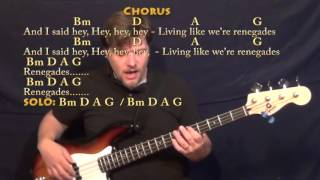 Renegades (X Ambassadors) Bass Guitar Cover Lesson in Bm with Chords/Lyrics