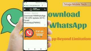 Gambar cover How to download FM whatsapp