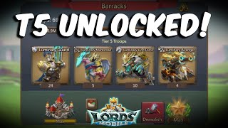 SugarKane Unlocked T5 Troops | Tomes Cost & How to train T5 Troops All Details - Lords Mobile