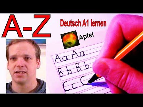 Deutsches Alphabet - Schreiben + Aussprache Lernen - Anlaut & Buchstabieren - Buchstaben A - Z