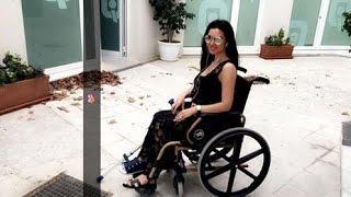فيديو وصور ميساء المغربي تستعين بالعكاز وبالكرسي والمدولب بعد إصابتها..