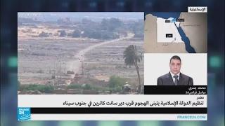 هجوم مسلح على نقطة حراسة دير القديسة كاترين في سيناء