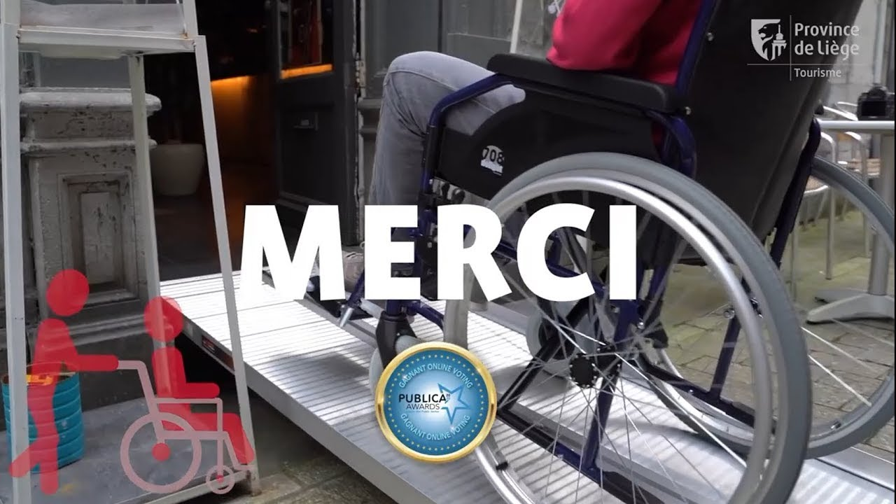 Liège rewarded for the development of touristic accessibility