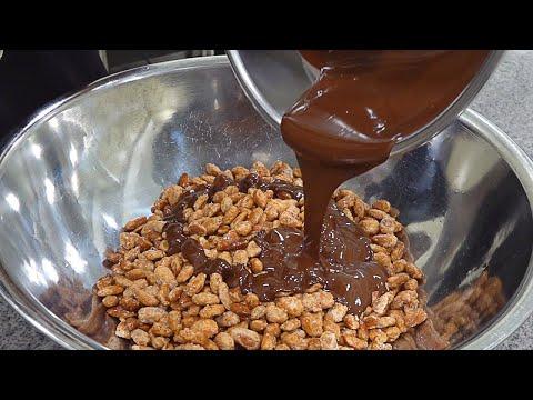 Amazing Chocolate Making, Chocolate Master (Almond, Matcha) - Chocolate Factory in Korea