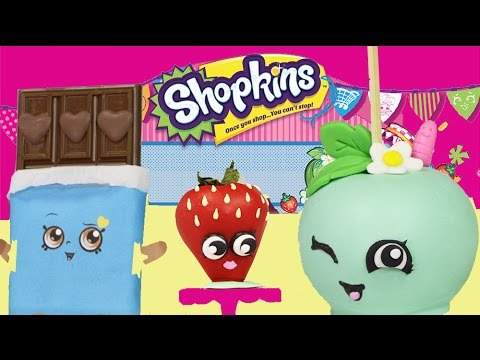 SHOPKINS Character Treats - NO BAKE Shopkins Candy Apple, Chocolate, Cookie & Donut Cake
