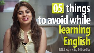 5 things to avoid while learning to speak English fluently. (Free English lessons) thumbnail