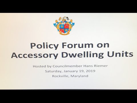 Policy Forum on Accessory Dwelling Units (ADUs)