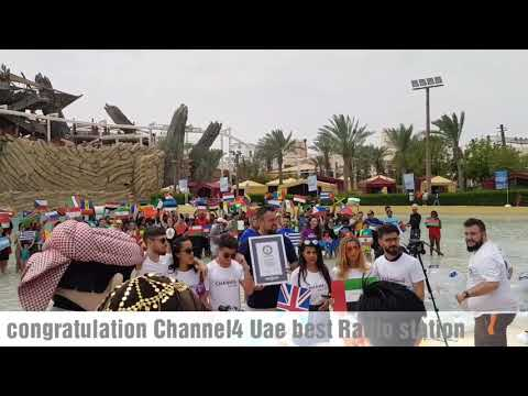 Channel4 dubai Guiness world record for most nationalities in swiming pool