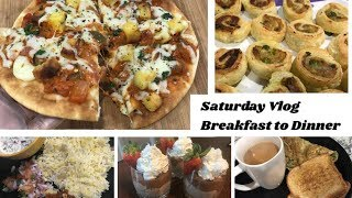Saturday Vlog| What we ate Breakfast to Dinner| Paneer Tikka Masala Pizza Recipe and more