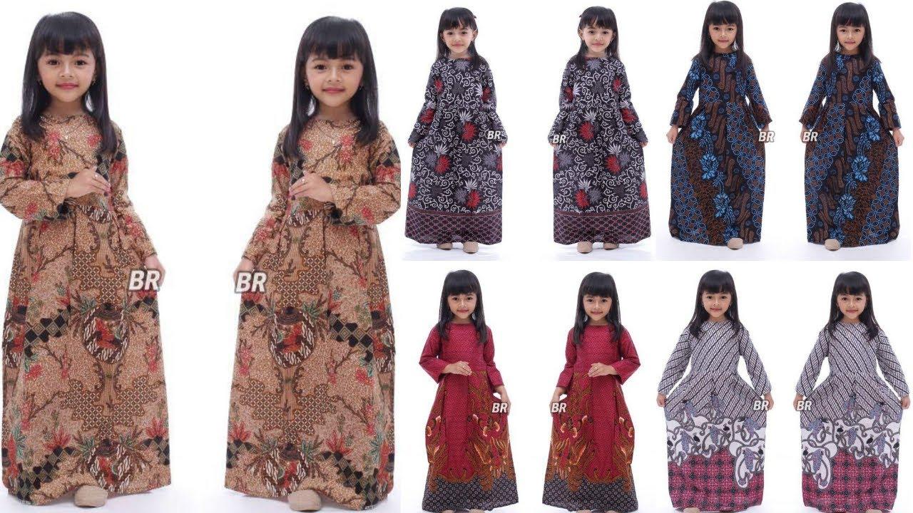 Trend Model Gamis Batik Anak Perempuan Terbaru Dan Modern Youtube