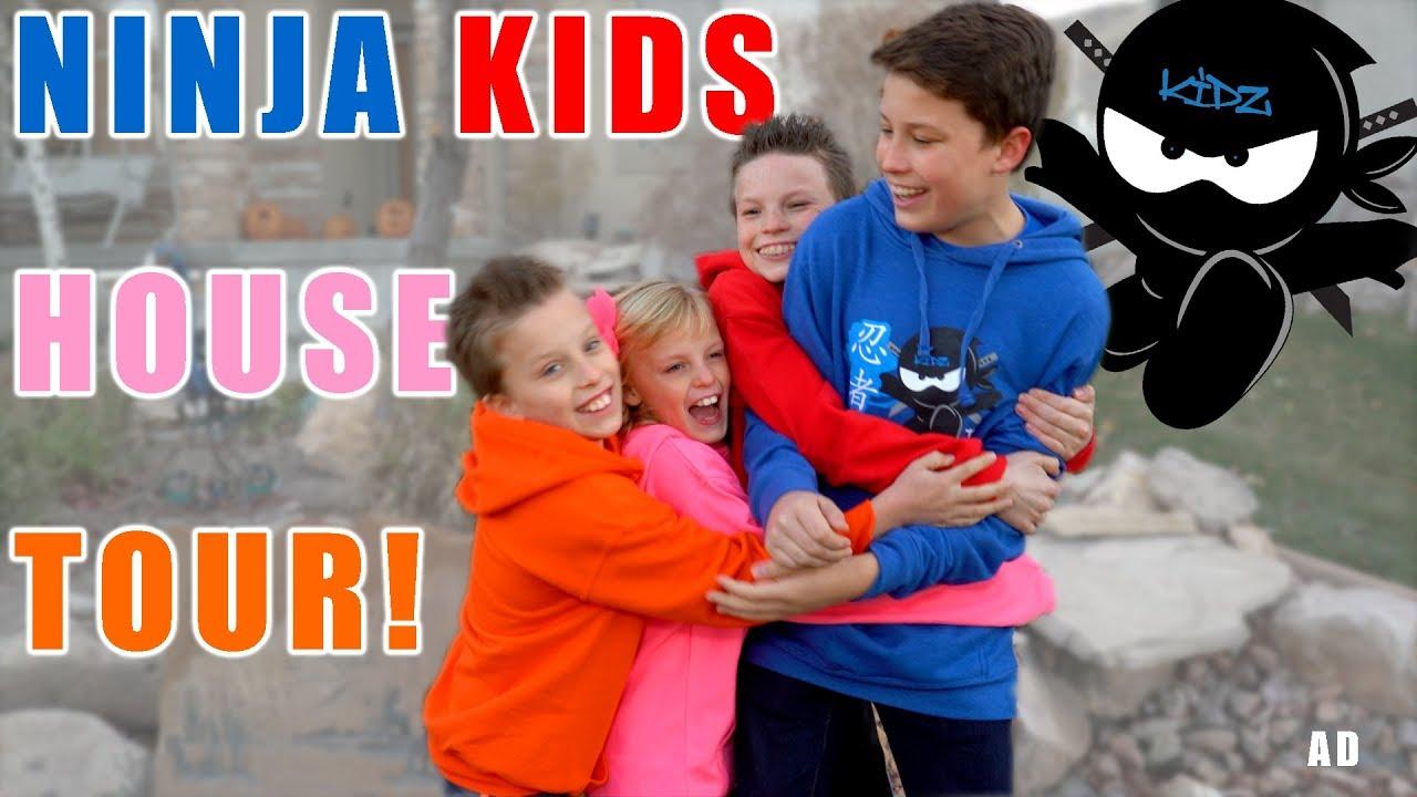 Ninja Kids tv House Tour! First time ever!