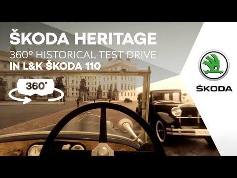 ŠKODA HERITAGE: 360° Historical Test Drive in L&K ŠKODA 110